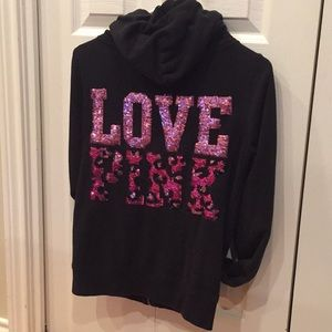 Pink Victoria's Secret Zip-up Sweatshirt Sequence